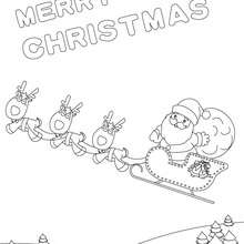220x220 Merry Christmas Cards Coloring Pages
