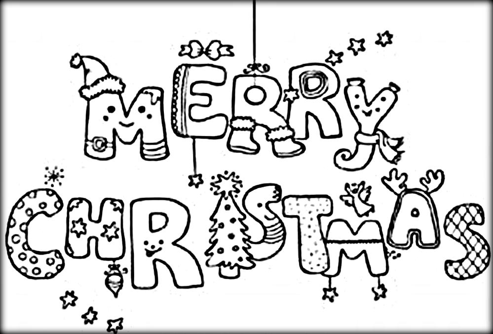 999x677 Merry Christmas Coloring Pages