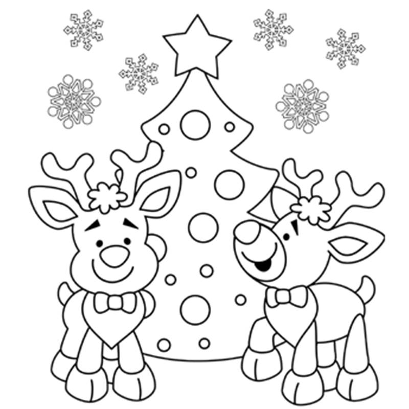 800x800 Australian Christmas Colouring Pages Free Coloring Page