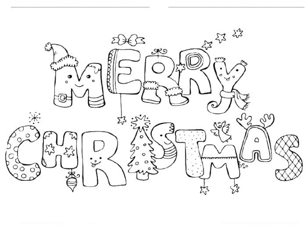 1024x762 Merry Christmas Coloring Pages