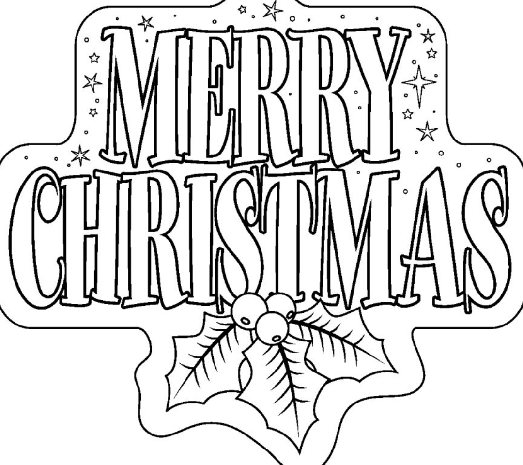 1080x960 Merry Christmas Coloring Pages