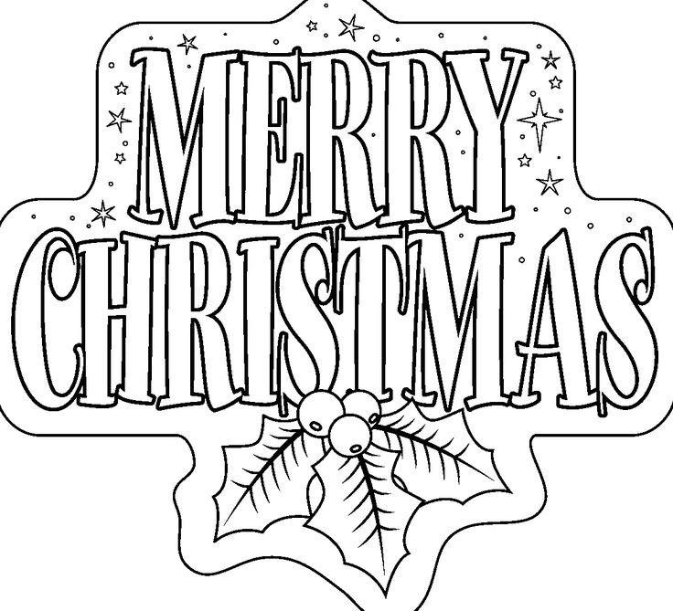 736x669 Merry Christmas Coloring Sheets Printable