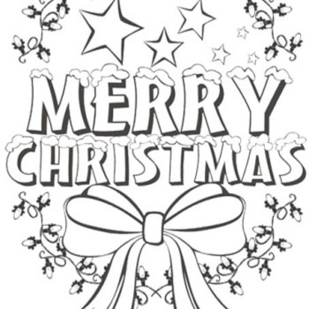 1024x1024 Modern Merry Christmas Coloring Pages Print Color Craft
