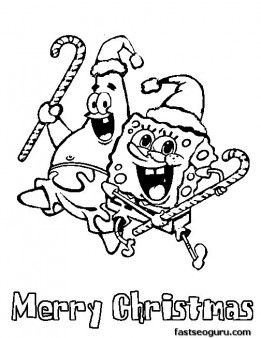 261x338 Printable Spongebob Merry Christmas Coloring Pages