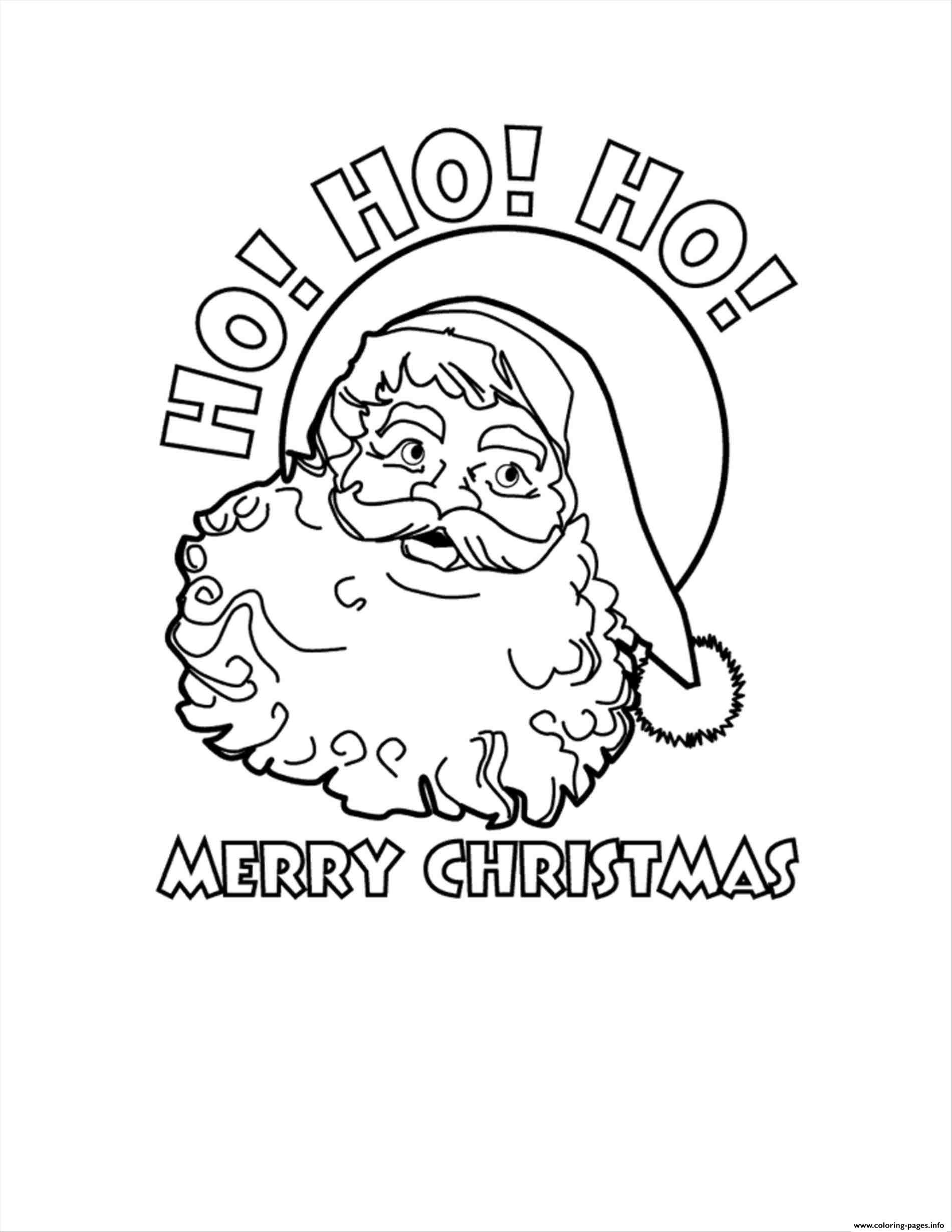 1900x2458 Santa Claus Ho Ho Ho Merry Christmas Coloring Pages Printable