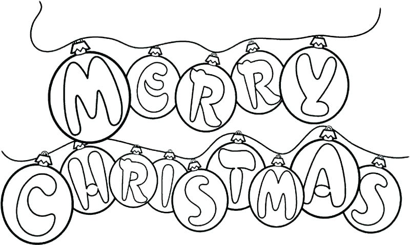 800x479 Coloring Merry Christmas Coloring Pages Page To Print Sign Merry