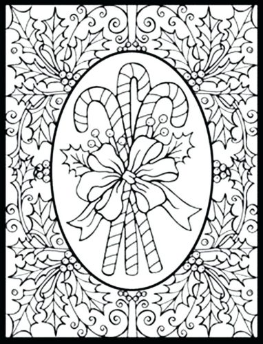 382x500 Coloring Pages Xmas Coloring Pages Printable And His Sleigh