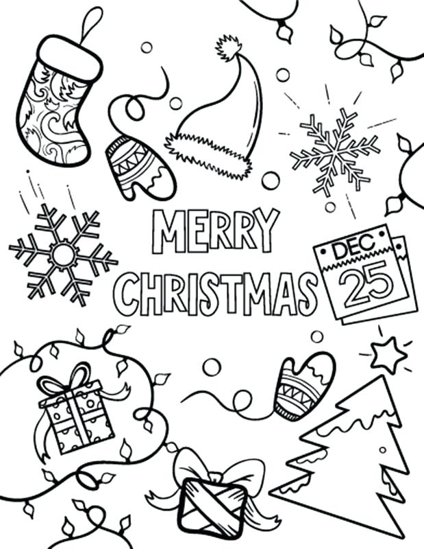 619x800 Christmas Coloring Pages Printables Merry Christmas Colouring