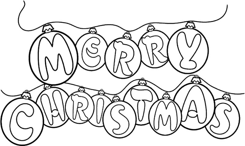 800x479 Merry Christmas Coloring Pages That Say Merry Christmas Happy