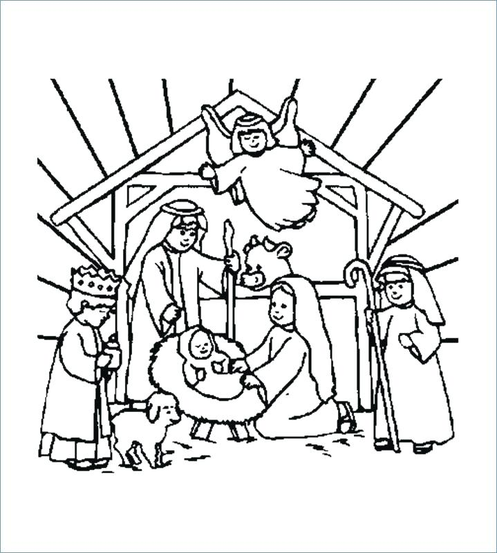 719x800 Merry Christmas Coloring Pages
