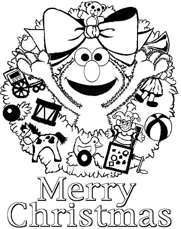 585x740 Christmas, Elma Says Merry Christmas Free Coloring Page