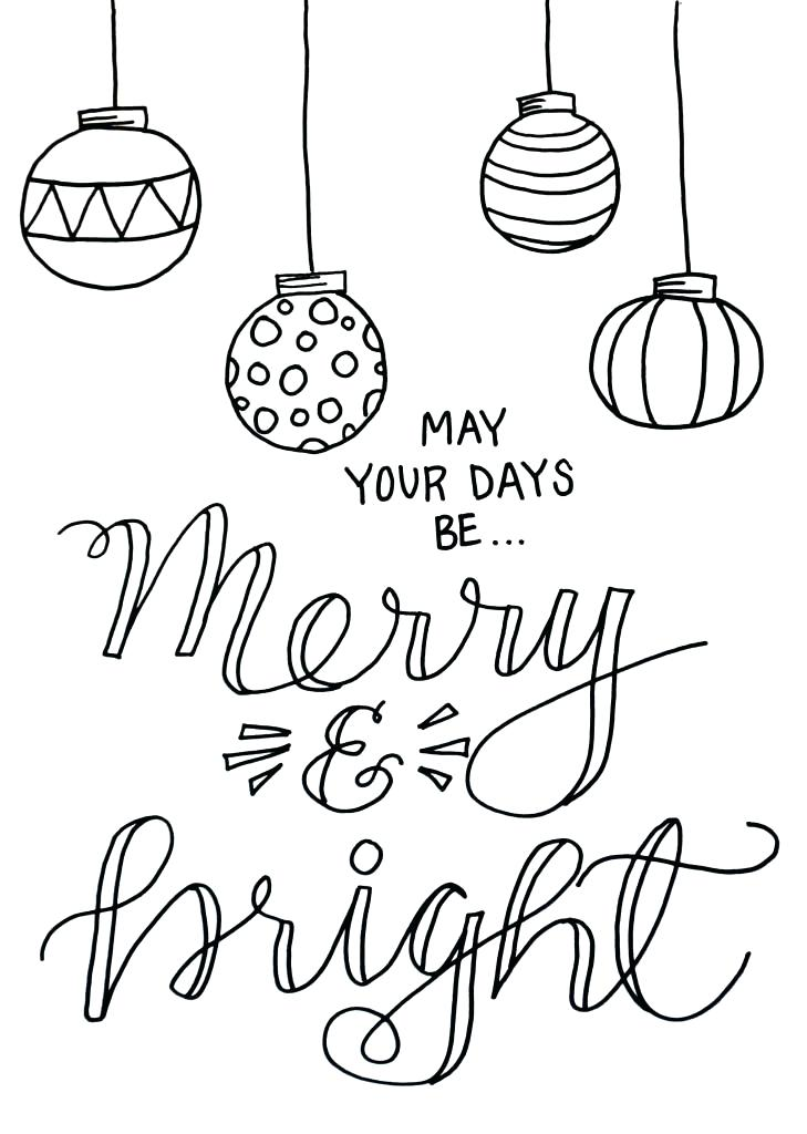 729x1024 Merry Christmas Coloring Page Merry And Bright Coloring Page Merry