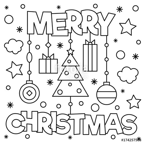 500x500 Merry Christmas Coloring Pages Merry Christmas Coloring Page