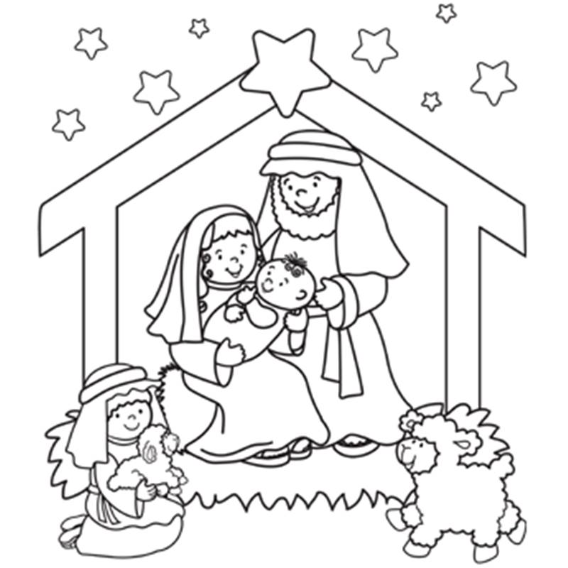 800x800 Christmas Coloring Pages Sunday School Free Printable Santa Merry