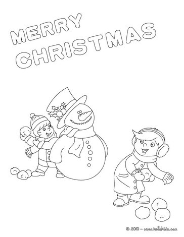364x470 Merry Christmas Cards Coloring Pages