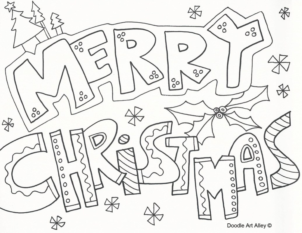 1035x800 Merry Christmas Printable Coloring Pages
