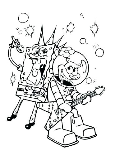 370x500 Spongebob Coloring Page Alphabet Coloring Pages Spongebob Merry