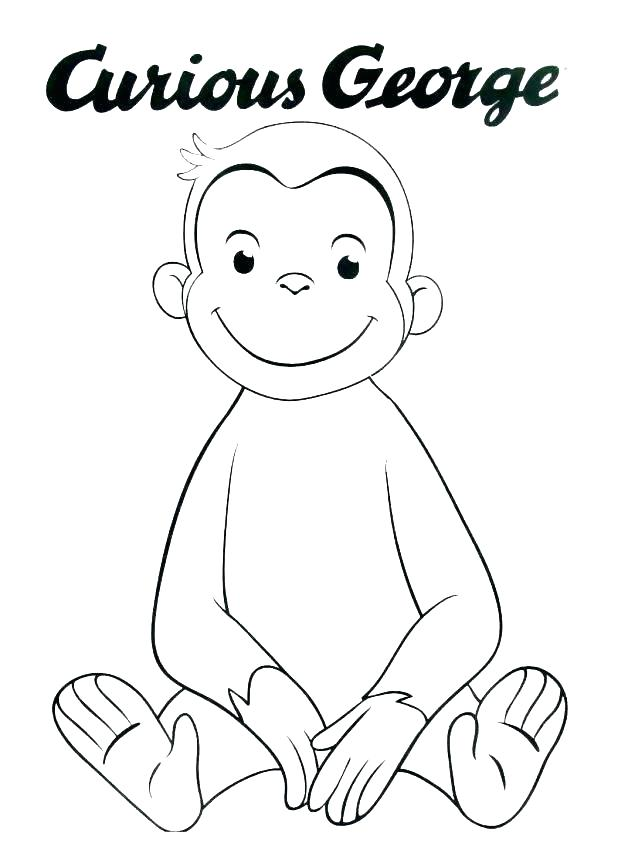 618x857 Coloring Pages Curious George Deepart