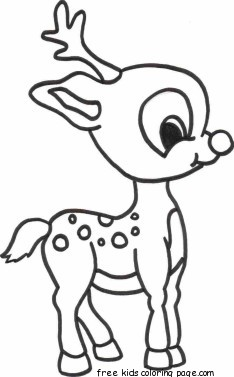 234x377 Merry Christmas Baby Romance Reindeer Coloring Pagesfree Printable