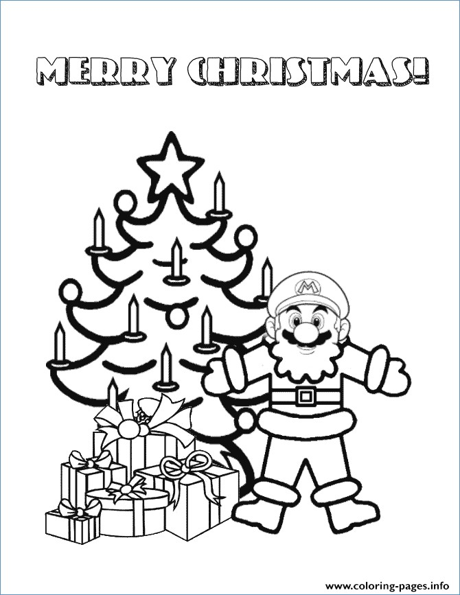 670x867 Christmas Tree And Santa Coloring Pages