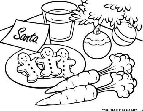 482x375 Gingerbread Cookies For Santa Christmas Coloring