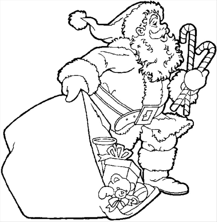 875x897 Merry Christmas Santa Claus Coloring Pages
