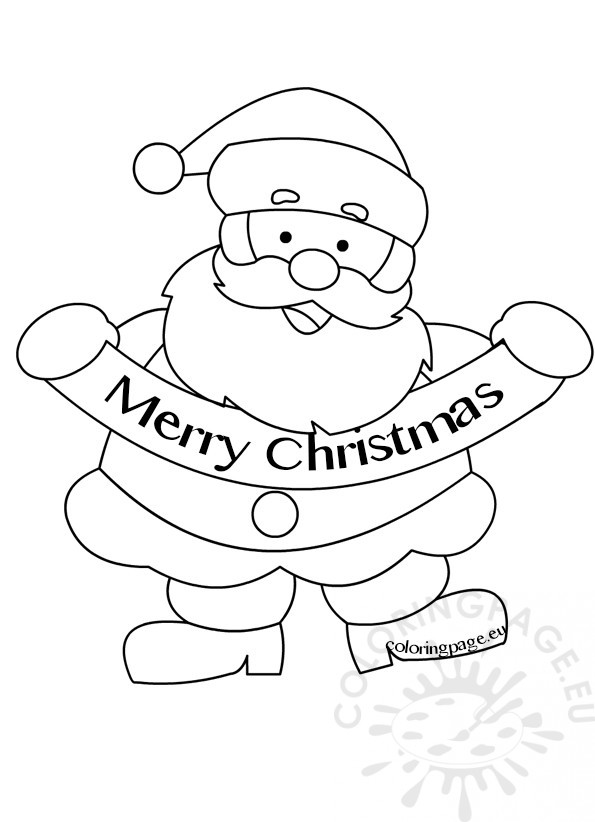 595x822 Merry Christmas Santa Claus Picture Coloring Page