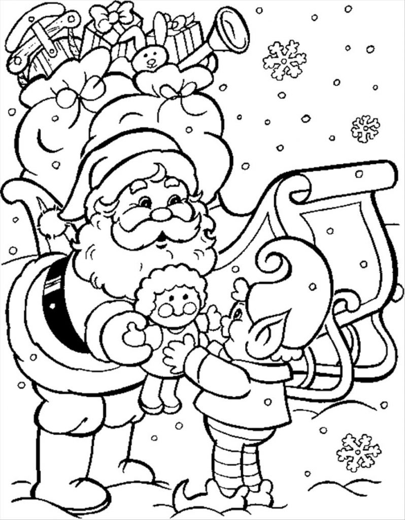 798x1024 Merry Christmas Santa Coloring Pages