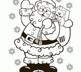 340x304 Merry Christmas Santa Coloring Pages Just Colorings