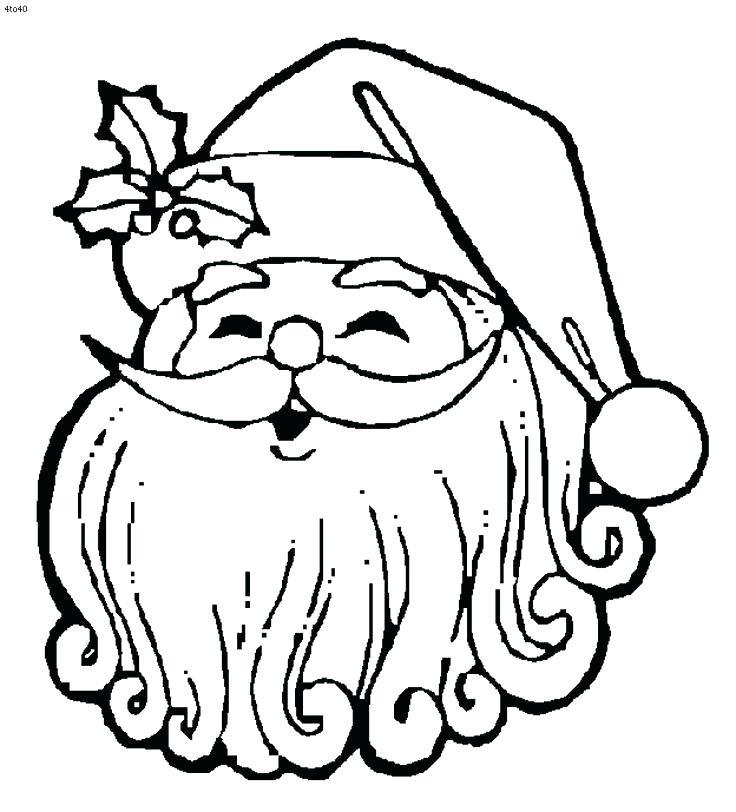 736x812 Santa Coloring Pages