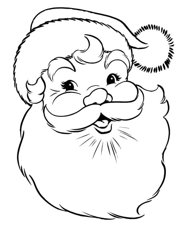 600x734 A Happy Merry Christmas From Santa Coloring Page
