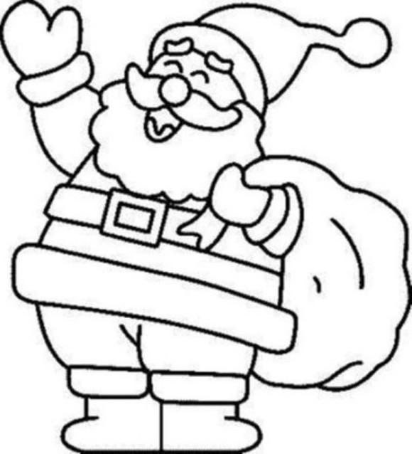 580x638 Christmas Santa Coloring Pages Free