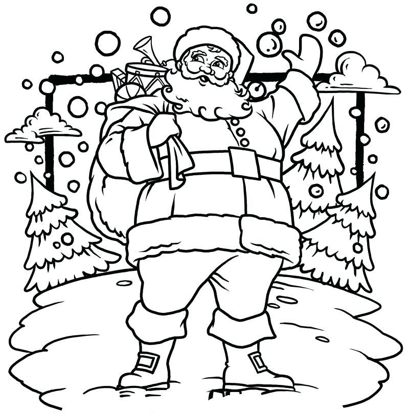 800x808 Christmas Santa Coloring Pages Printable Coloring Page A Coloring