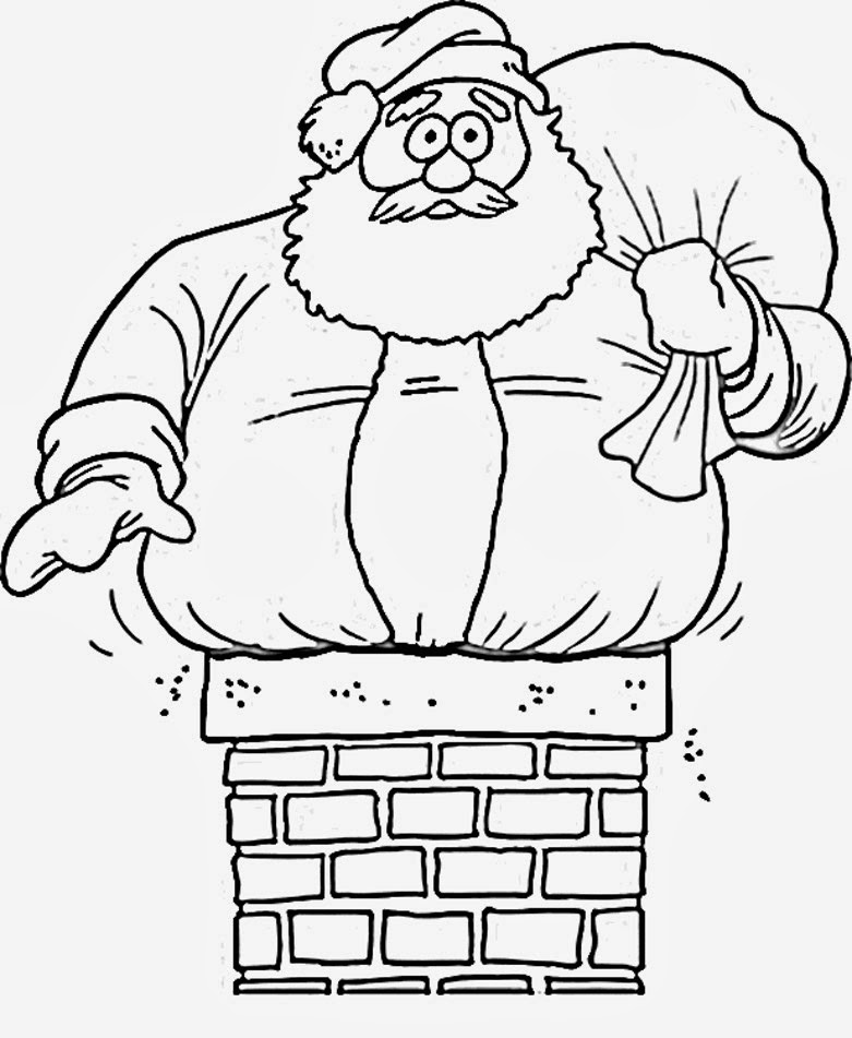 Merry Christmas Santa Coloring Pages_