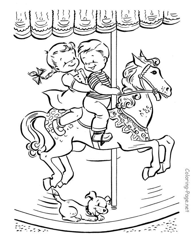 670x820 Best Merry Go Round Images On Coloring Books