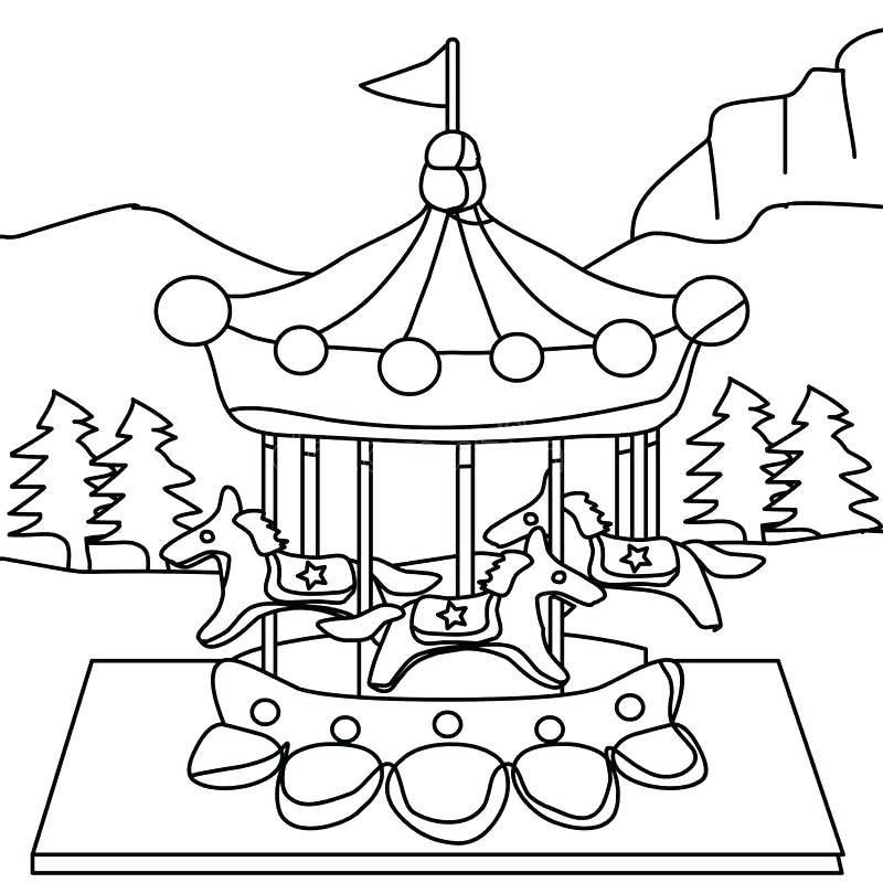 800x800 Carousel Coloring Pages Carousel Coloring Pages Coloring Page