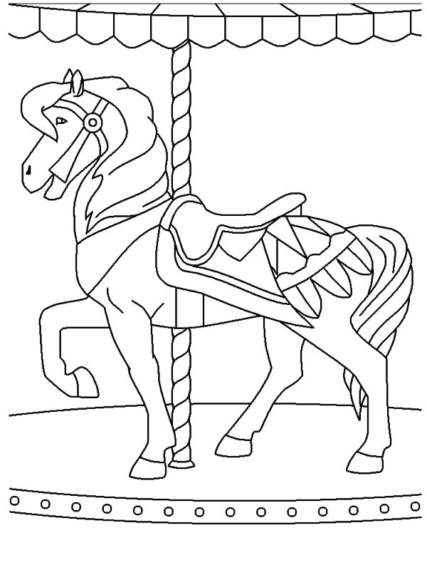 600x793 Circus And Carnival Merry Go Round At Coloring Pages Bulk Color