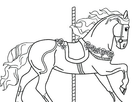 440x330 Coloring Pages Jumping Horse Horse Colour Roan