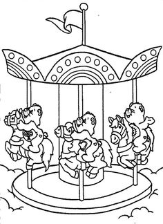 236x324 Coloring Page Merry Go Round Merry Go Round Merry