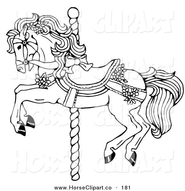 600x620 Merry Go Round Coloring Pages Merry=go Round Colouring Pages