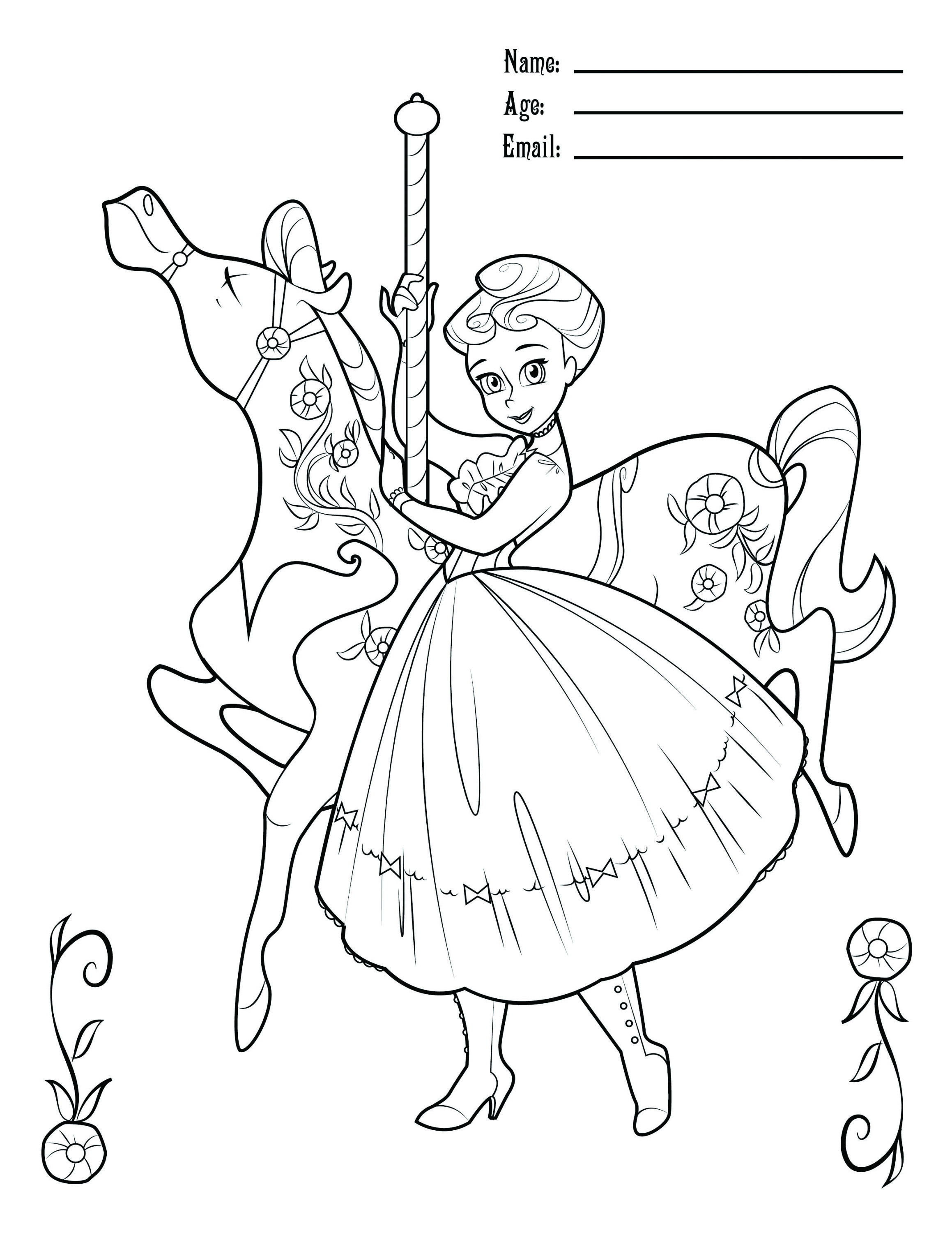 2318x3000 Awesome Coloring Pages Carousel Horses
