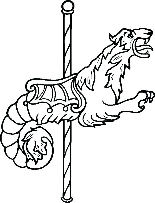 662x862 Carousel Coloring Pages