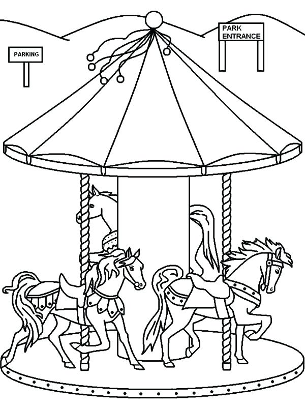 600x800 Wonderful Cool Carousel Coloring Page Kids Pages A Merry Go Round