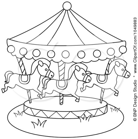 447x450 Carousel Coloring Pages