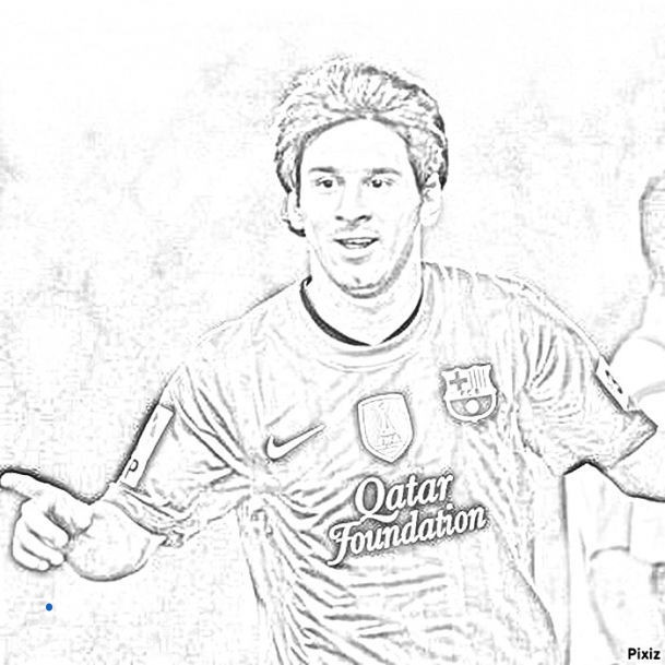 609x609 Lionel Messi Colouring Pictures Fresh Messi Coloring Pages Leonle