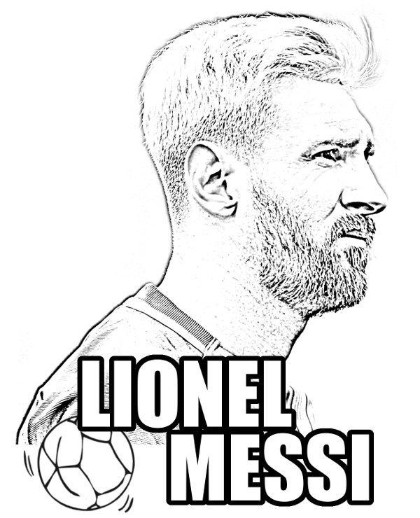 600x740 At Messi Coloring Pages