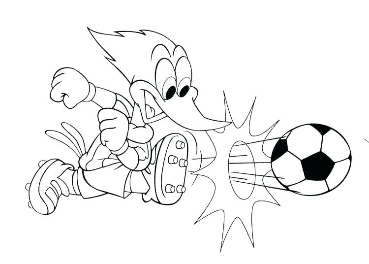 750x536 Soccer Coloring Page Woody Woodpecker Coloring Pages Woody