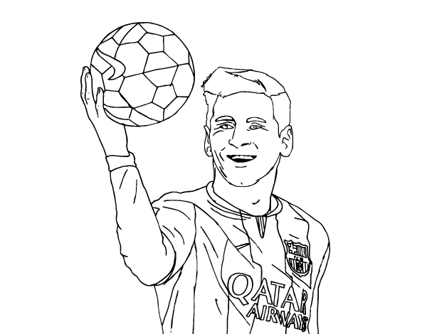 600x470 Messi Coloring Pages Lionel Messi Coloring Page Coloringcrew Free