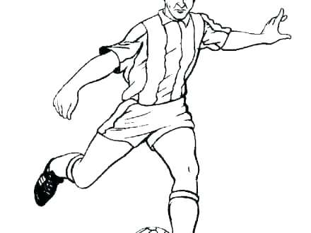 440x330 Soccer Player Coloring Pages