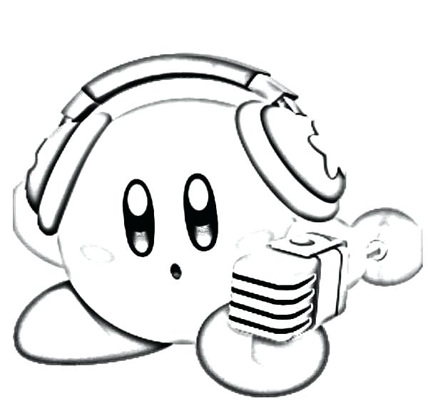 600x580 Kirby Coloring Pages Super Smash Bros Coloring Pages Kids Play